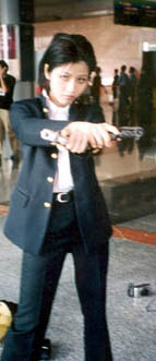 kazuo with two guns